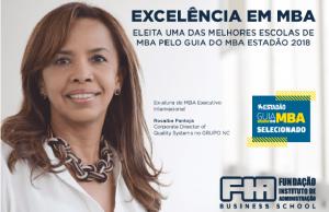 A FIA Business School, eleita uma das melhores escolas de MBA pelo guia do MBA Estadão 2018