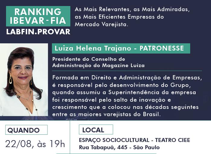 Luiza Helena Trajano Ranking IBEVAR